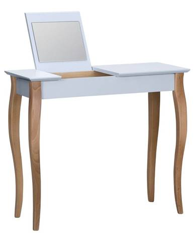 Svetlosivý toaletný stolík sozrkadlom Ragaba Dressing Table,dĺžka85cm