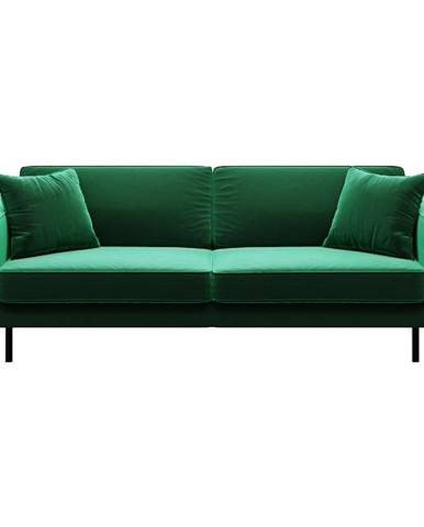 Zelená zamatová pohovka MESONICA Kobo, 207 cm