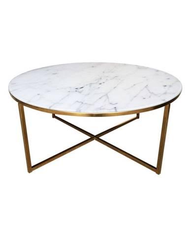 Konferenčný stolík Actona Alisma Golden, ⌀80 cm
