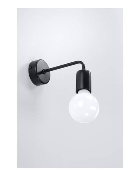 Nice Lamps Čierne nástenné svietidlo Sollux Donato