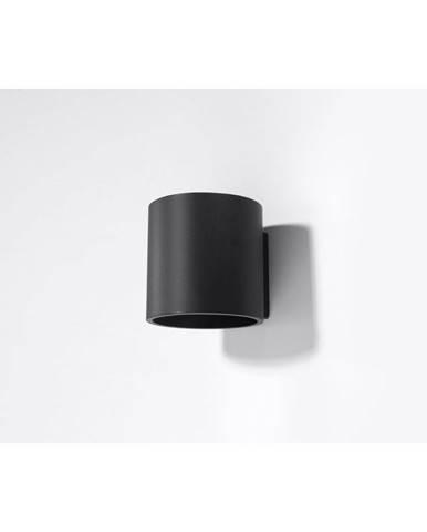 Čierne nástenné svietidlo Sollux Roda
