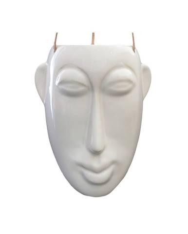 Biely závesný kvetináč PT LIVING Mask, výška22,3cm