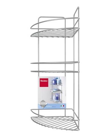Nástenná rohová kúpeľňová polička s troma poschodiami Metaltex Ref