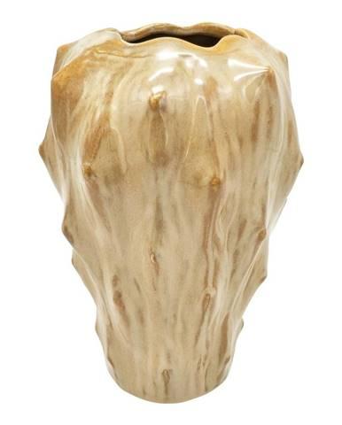 Pieskovohnedá keramická váza PT LIVING Flora, výška 23,5 cm
