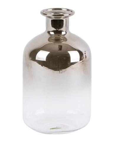 Sklenená malá váza PT LIVING Silver Tube, výška 10 cm