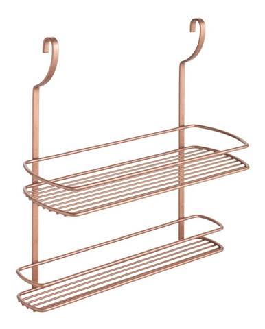 Závesná polička s dvoma poschodiami Metaltex Copper