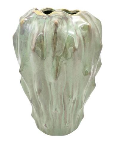 Zelená keramická váza PT LIVING Flora, výška 23,5 cm
