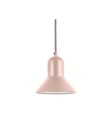 Svetloružové závesné svietidlo Leitmotiv Slender, výška 14,5 cm