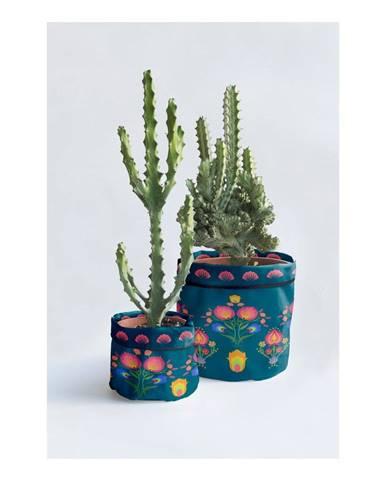 Súprava 2 textilných obalov na kvetináč Madre Selva Crisantemo