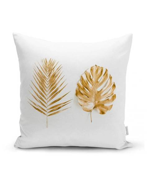 Minimalist Cushion Covers Obliečka na vankúš Minimalist Cushion Covers Golden Leafes, 45 x 45 cm