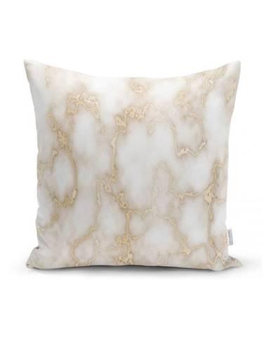 Obliečka na vankúš Minimalist Cushion Covers Golden Lines Marble, 45 x 45 cm