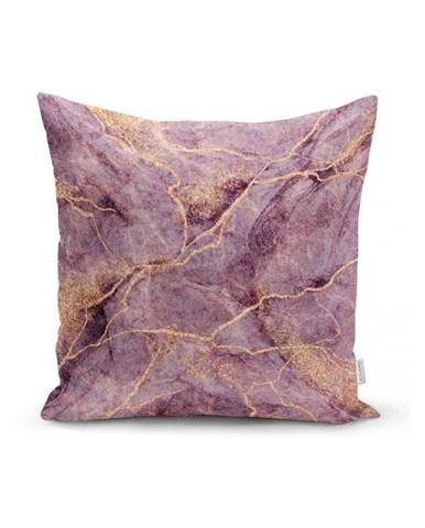 Obliečka na vankúš Minimalist Cushion Covers Lilac Marble, 45 x 45 cm