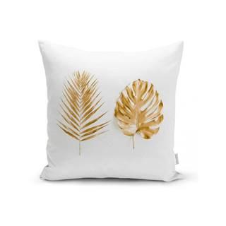 Obliečka na vankúš Minimalist Cushion Covers Golden Leafes, 45 x 45 cm