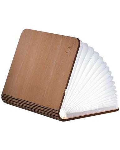 Svetlohnedá LED stolová lampa v tvare knihy z javorového dreva Gingko Booklight