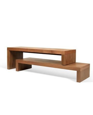 Hnedý dvojitý konferenčný stolík TemaHome Cliff, 125 x 20 cm