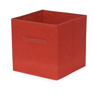 Červený skladací úložný box Compactor Foldable Cardboard Box