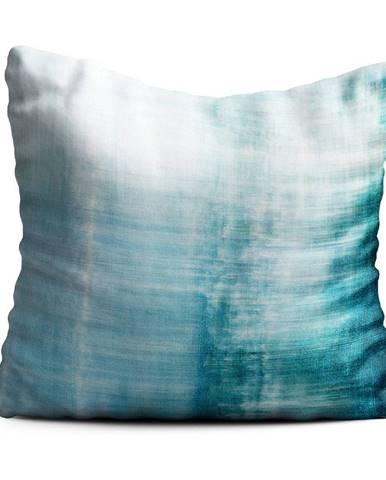 Modrý vankúš Oyo home Oceana, 40x40cm