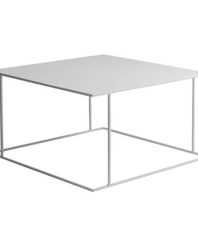 Biely konferenčný stolík Custom Form Walt, 80 × 80 cm