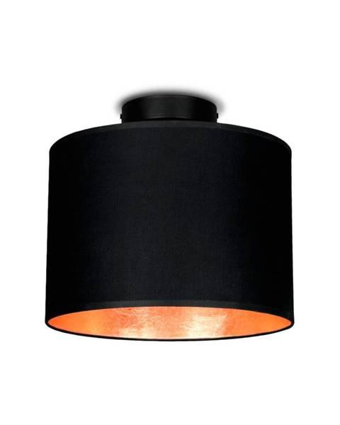 Sotto Luce Čierne stropné svietidlo s detailom v medenej farbe Sotto Luce MIKA, Ø 25 cm
