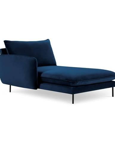 Modrá zamatová leňoška Cosmopolitan Design Vienna, ľavý roh