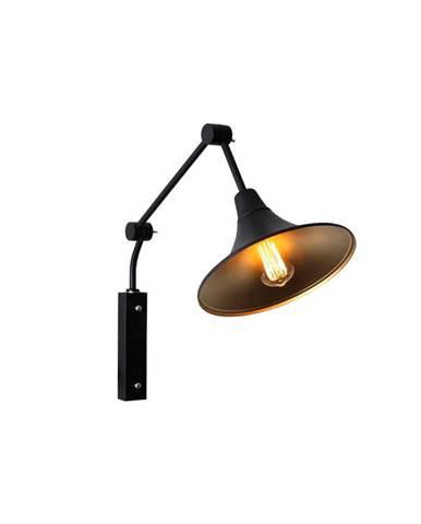 Čierna nástenná lampa Custom Form Miller, ø 25cm