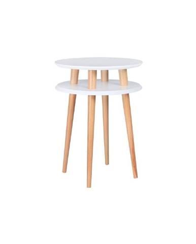 Biely konferenčný stolík Ragaba UFO, Ø 45 cm