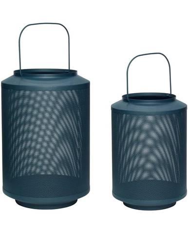 Súprava 2 tmavozelených železných lampášov Hübsch Fento