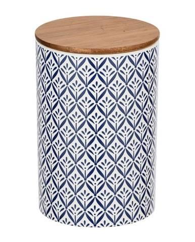 Keramický úložný box s bambusovým vekom Wenko Lorca, 1,45 l