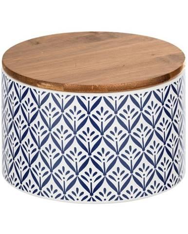Keramický úložný box s bambusovým vekom Wenko Lorca, 750 ml