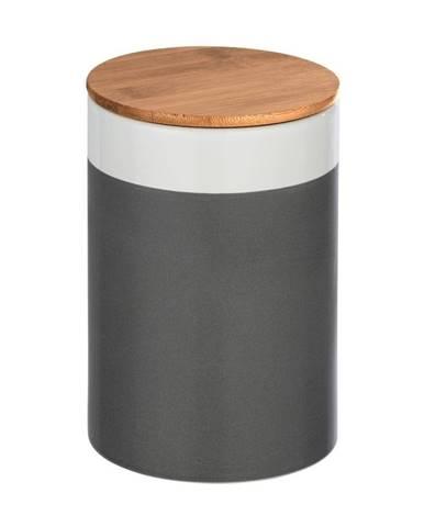 Keramický úložný box s bambusovým vekom Wenko Malta, 1,45 l