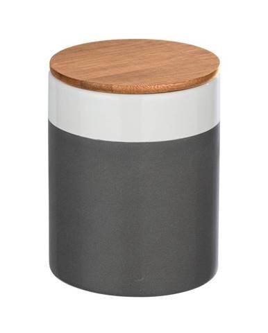 Keramický úložný box s bambusovým vekom Wenko Malta, 950 ml