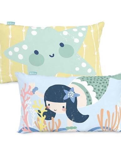 Bavlnená obojstranná obliečka na vankúš Moshi Moshi Seamaid, 50×30 cm