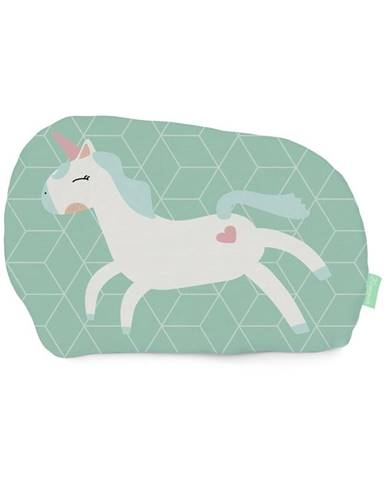 Vankúšik z čistej bavlny Happynois Unicorn, 40×30 cm