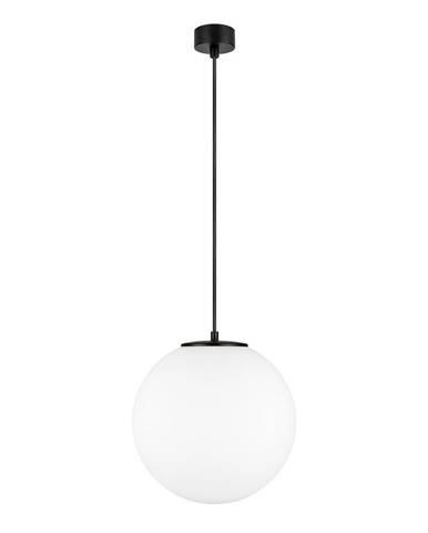 Biele závesné svietidlo v čiernej farbe s objímkou Sotto Luce TSUKI L