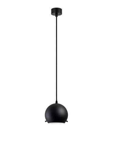 Čierne matné stropné svietidlo s čiernym káblom Sotto Luce Myoo