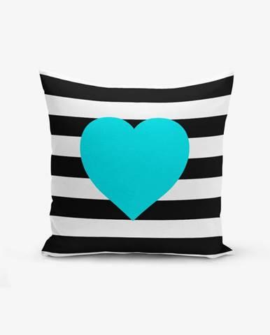 Obliečka na vaknúš s prímesou bavlny Minimalist Cushion Covers Striped Blue, 45×45 cm