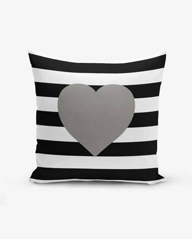 Obliečka na vaknúš s prímesou bavlny Minimalist Cushion Covers Striped Grey, 45×45 cm