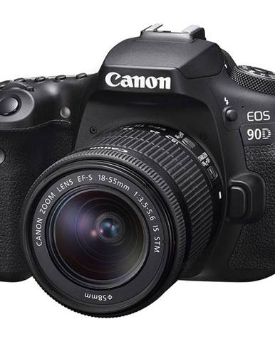 Digitálny fotoaparát Canon EOS 90D + 18-55 IS STM čierny