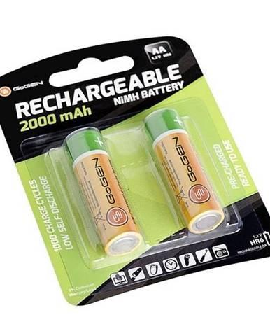 Batéria nabíjacie Gogen AA, HR06, 2000mAh, Ni-MH, blistr 2ks