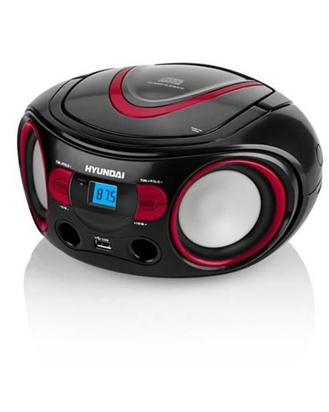 Hyundai Rádioprijímač s CD Hyundai TRC 533 Au3br čierny/červen