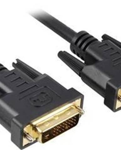 Kábel PremiumCord DVI, 2m čierny