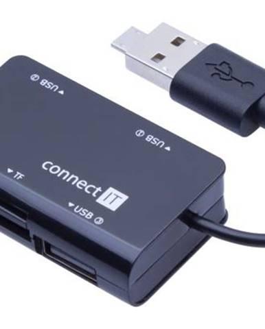 USB Hub Connect IT USB 2.0 / 3x USB 2.0 čierny