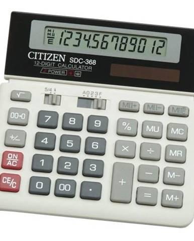 Kalkulačka Citizen SDC-368 čierna/biela