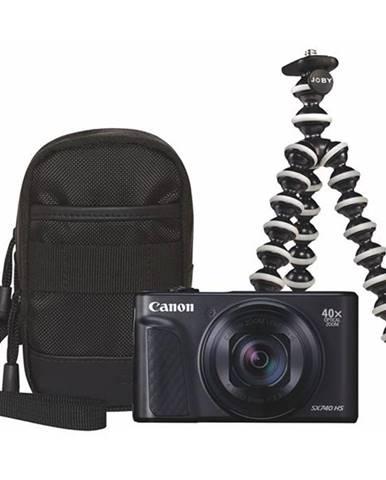 Digitálny fotoaparát Canon PowerShot SX740 HS, Travel KIT čierny