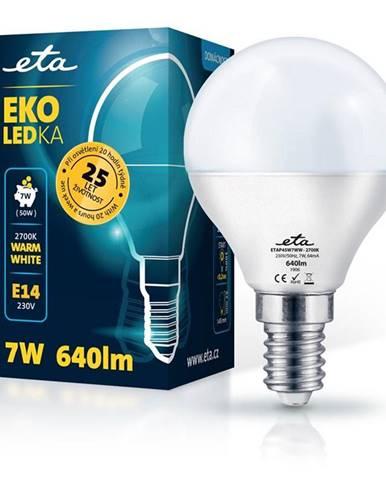 LED žiarovka ETA EKO LEDka mini globe 7W, E14, teplá biela