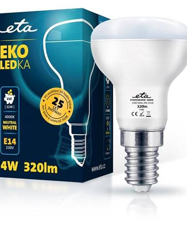 LED žiarovka ETA EKO LEDka reflektor 4W, E14, neutrálna biela