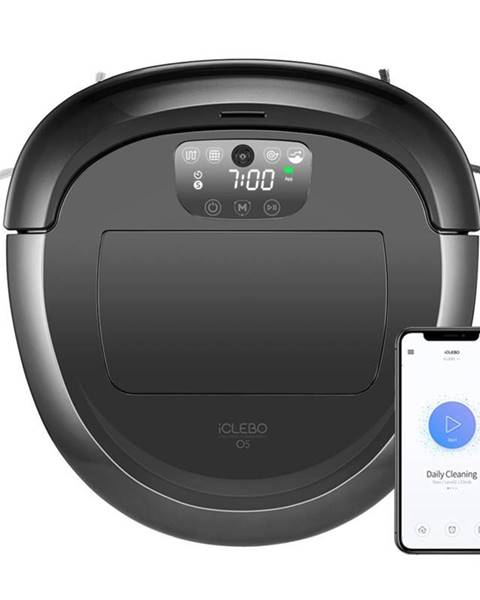 iClebo Robotický vysávač iClebo O5 YCR-M07-20W čierny/siv