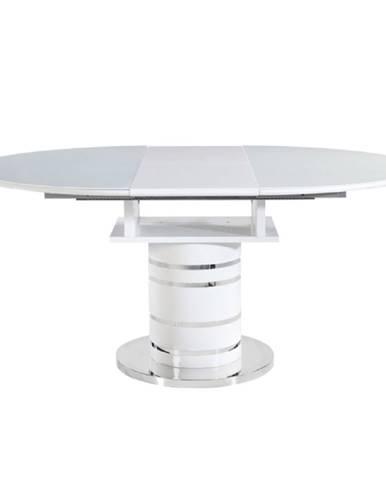Jedálenský stôl rozkladací biela vysoký lesk HG ZAMON