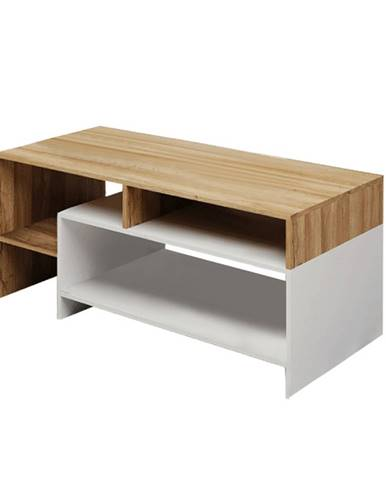 Konferenčný stolík dub grandson/biela ALICANTE