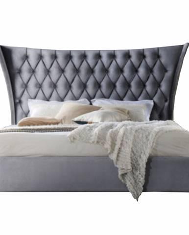 Manželská posteľ sivá/wenge 180x200 ALESIA